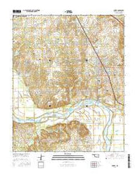 Coweta Oklahoma Current topographic map, 1:24000 scale, 7.5 X 7.5 Minute, Year 2016