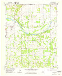 Coyle Oklahoma Historical topographic map, 1:24000 scale, 7.5 X 7.5 Minute, Year 1978