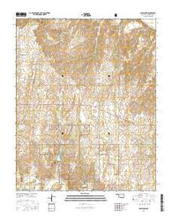 Crawford Oklahoma Current topographic map, 1:24000 scale, 7.5 X 7.5 Minute, Year 2016