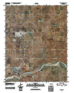 Crescent Oklahoma Historical topographic map, 1:24000 scale, 7.5 X 7.5 Minute, Year 2009