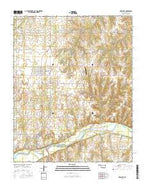 Crescent Oklahoma Current topographic map, 1:24000 scale, 7.5 X 7.5 Minute, Year 2016 from Oklahoma Map Store