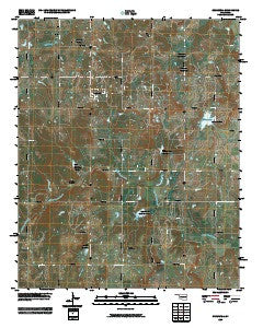 Cromwell Oklahoma Historical topographic map, 1:24000 scale, 7.5 X 7.5 Minute, Year 2009