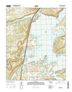 Crowder Oklahoma Current topographic map, 1:24000 scale, 7.5 X 7.5 Minute, Year 2016 from Oklahoma Map Store