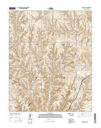 Custer City Oklahoma Current topographic map, 1:24000 scale, 7.5 X 7.5 Minute, Year 2016 from Oklahoma Map Store