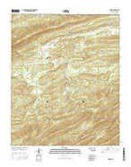 Damon Oklahoma Current topographic map, 1:24000 scale, 7.5 X 7.5 Minute, Year 2016 from Oklahoma Map Store