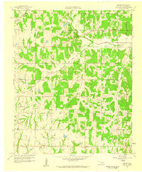 Denver Oklahoma Historical topographic map, 1:24000 scale, 7.5 X 7.5 Minute, Year 1958