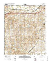 Dill City NE Oklahoma Current topographic map, 1:24000 scale, 7.5 X 7.5 Minute, Year 2016