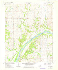 Doga Creek Oklahoma Historical topographic map, 1:24000 scale, 7.5 X 7.5 Minute, Year 1978