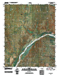Doga Creek Oklahoma Historical topographic map, 1:24000 scale, 7.5 X 7.5 Minute, Year 2009