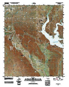 Dougherty Oklahoma Historical topographic map, 1:24000 scale, 7.5 X 7.5 Minute, Year 2009