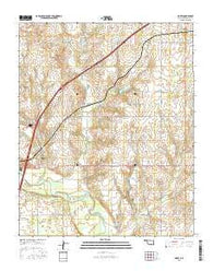 Doxey Oklahoma Current topographic map, 1:24000 scale, 7.5 X 7.5 Minute, Year 2016