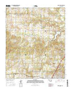 Durant North Oklahoma Current topographic map, 1:24000 scale, 7.5 X 7.5 Minute, Year 2016 from Oklahoma Map Store