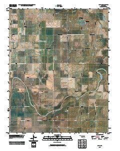 Eddy Oklahoma Historical topographic map, 1:24000 scale, 7.5 X 7.5 Minute, Year 2009