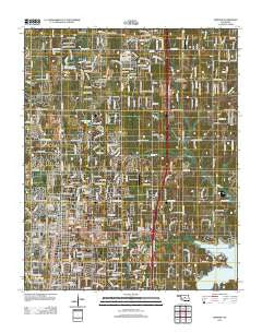 Edmond Oklahoma Historical topographic map, 1:24000 scale, 7.5 X 7.5 Minute, Year 2012