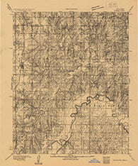 Edmond Oklahoma Historical topographic map, 1:62500 scale, 15 X 15 Minute, Year 1892