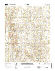 Elk City SE Oklahoma Current topographic map, 1:24000 scale, 7.5 X 7.5 Minute, Year 2016 from Oklahoma Maps Store
