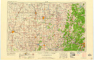 Enid Oklahoma Historical topographic map, 1:250000 scale, 1 X 2 Degree, Year 1958