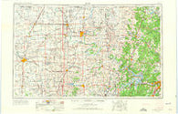 Enid Oklahoma Historical topographic map, 1:250000 scale, 1 X 2 Degree, Year 1955