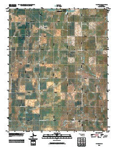 Fairmont Oklahoma Historical topographic map, 1:24000 scale, 7.5 X 7.5 Minute, Year 2009