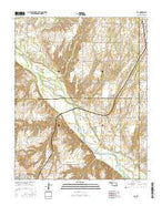 Fay Oklahoma Current topographic map, 1:24000 scale, 7.5 X 7.5 Minute, Year 2016 from Oklahoma Map Store