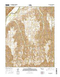 Flying Creek Oklahoma Current topographic map, 1:24000 scale, 7.5 X 7.5 Minute, Year 2016