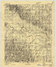 Fort Reno Oklahoma Historical topographic map, 1:62500 scale, 15 X 15 Minute, Year 1893
