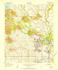 Fort Sill Oklahoma Historical topographic map, 1:24000 scale, 7.5 X 7.5 Minute, Year 1949