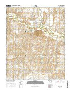 Fort Cobb Oklahoma Current topographic map, 1:24000 scale, 7.5 X 7.5 Minute, Year 2016 from Oklahoma Map Store
