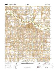 Fort Cobb Oklahoma Current topographic map, 1:24000 scale, 7.5 X 7.5 Minute, Year 2016