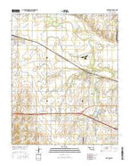 Fort Reno Oklahoma Current topographic map, 1:24000 scale, 7.5 X 7.5 Minute, Year 2016 from Oklahoma Map Store