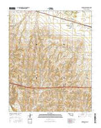 Fort Reno SW Oklahoma Current topographic map, 1:24000 scale, 7.5 X 7.5 Minute, Year 2016 from Oklahoma Map Store