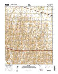 Fort Reno SW Oklahoma Current topographic map, 1:24000 scale, 7.5 X 7.5 Minute, Year 2016