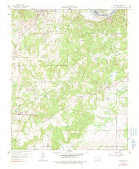 Francis Oklahoma Historical topographic map, 1:24000 scale, 7.5 X 7.5 Minute, Year 1958