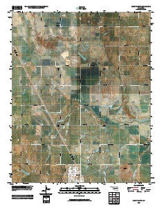 Geary North Oklahoma Historical topographic map, 1:24000 scale, 7.5 X 7.5 Minute, Year 2009