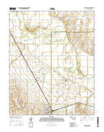 Geary North Oklahoma Current topographic map, 1:24000 scale, 7.5 X 7.5 Minute, Year 2016 from Oklahoma Map Store