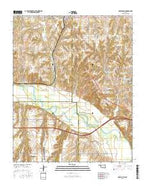 Geary South Oklahoma Current topographic map, 1:24000 scale, 7.5 X 7.5 Minute, Year 2016 from Oklahoma Map Store