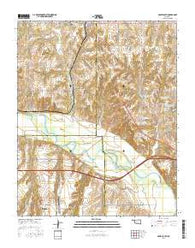 Geary South Oklahoma Current topographic map, 1:24000 scale, 7.5 X 7.5 Minute, Year 2016