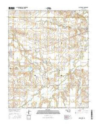 Gotebo East Oklahoma Current topographic map, 1:24000 scale, 7.5 X 7.5 Minute, Year 2016