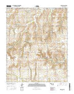 Gotebo NW Oklahoma Current topographic map, 1:24000 scale, 7.5 X 7.5 Minute, Year 2016 from Oklahoma Map Store