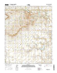 Gotebo West Oklahoma Current topographic map, 1:24000 scale, 7.5 X 7.5 Minute, Year 2016