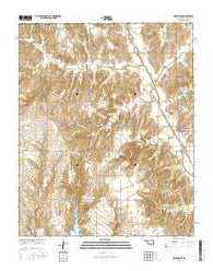 Gracemont Oklahoma Current topographic map, 1:24000 scale, 7.5 X 7.5 Minute, Year 2016