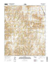 Greenfield Oklahoma Current topographic map, 1:24000 scale, 7.5 X 7.5 Minute, Year 2016