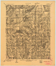 Guthrie Oklahoma Historical topographic map, 1:62500 scale, 15 X 15 Minute, Year 1892