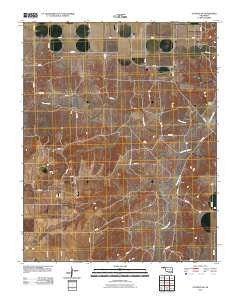 Guymon SW Oklahoma Historical topographic map, 1:24000 scale, 7.5 X 7.5 Minute, Year 2010