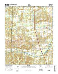 Hanna Oklahoma Current topographic map, 1:24000 scale, 7.5 X 7.5 Minute, Year 2016