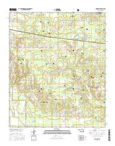 Haworth Oklahoma Current topographic map, 1:24000 scale, 7.5 X 7.5 Minute, Year 2016