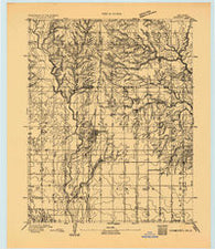 Hennessey Oklahoma Historical topographic map, 1:62500 scale, 15 X 15 Minute, Year 1893