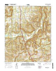 Henryetta SW Oklahoma Current topographic map, 1:24000 scale, 7.5 X 7.5 Minute, Year 2016