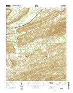 Higgins Oklahoma Current topographic map, 1:24000 scale, 7.5 X 7.5 Minute, Year 2016 from Oklahoma Map Store