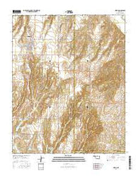 Hinton Oklahoma Current topographic map, 1:24000 scale, 7.5 X 7.5 Minute, Year 2016